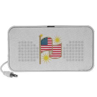 American Flag Mini Speakers