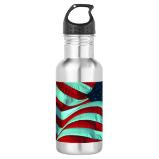 American Flag Stainless Steel Water Bottle