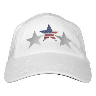 American Flag Star Design. Headsweats Hat