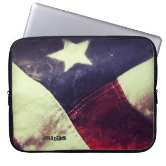 American flag star laptop sleeve