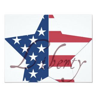 American Flag Star Liberty Card