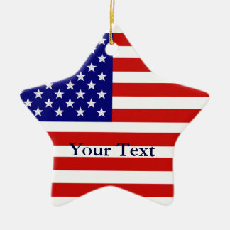 American Flag Star Shape Christmas Ornament