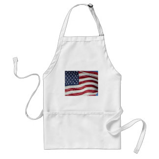 American Flag,Star Spangled Banner red white blue Adult Apron