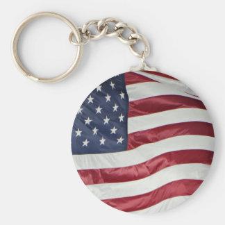 American Flag,Star Spangled Banner red white blue Keychain