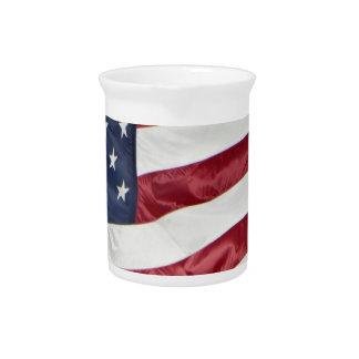 American Flag,Star Spangled Banner red white blue Pitcher