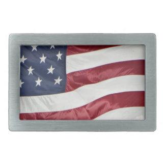 American Flag,Star Spangled Banner red white blue Rectangular Belt Buckle