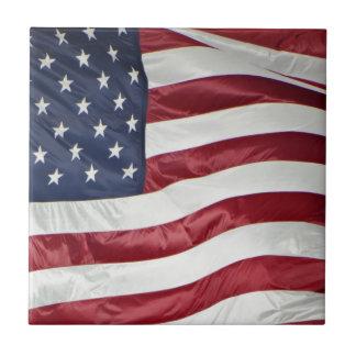 American Flag,Star Spangled Banner red white blue Tile