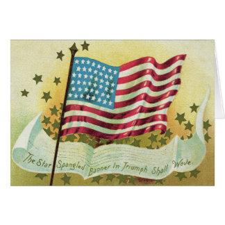 American Flag Star Spangled Banner Stars Card