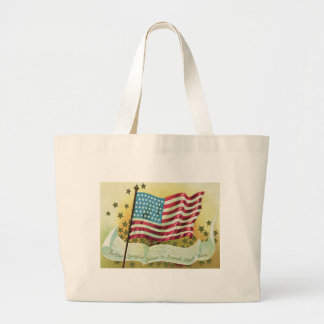 American Flag Star Spangled Banner Stars Large Tote Bag