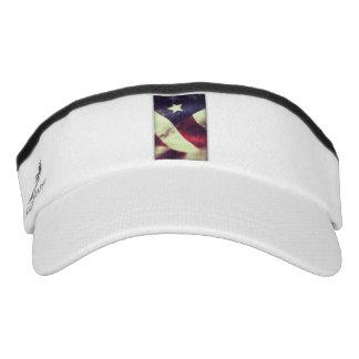 American flag star visor