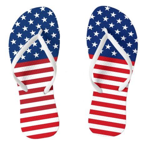 American Flag Stars And Stripes Flip Flops