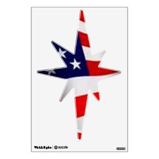 AMERICAN FLAG STARS AND STRIPES NATIVITY STAR WALL DECAL