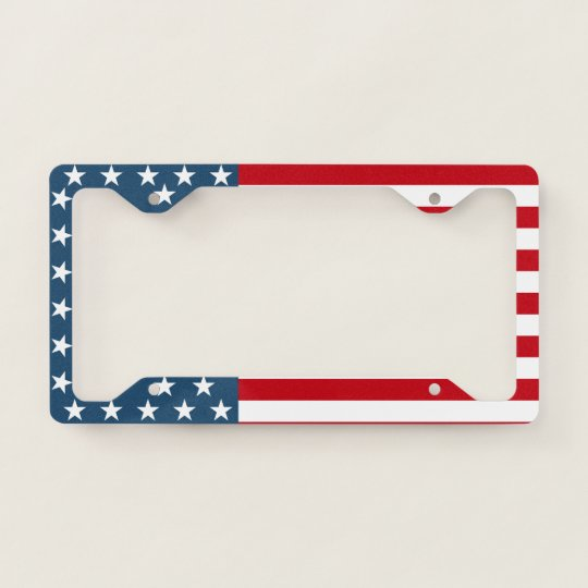 90ffd38b94d American Flag Stars and Stripes Patriotic License Plate Frame ...