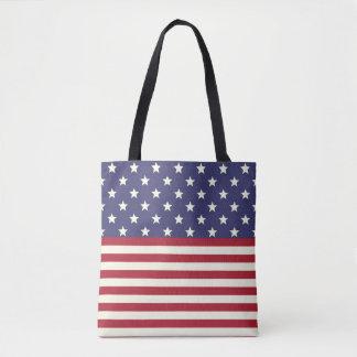 American Flag Stars and Stripes Patriotic USA Tote Bag