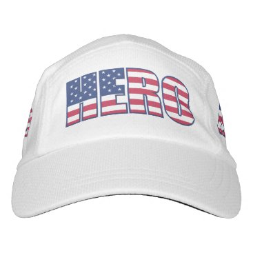 American Flag Stars and Stripes Typography Hero Hat