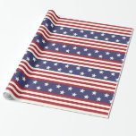 American Flag Stars and Stripes USA Patriotic Wrapping Paper