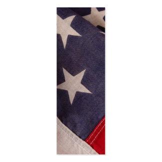 American flag stars bookmark mini business card