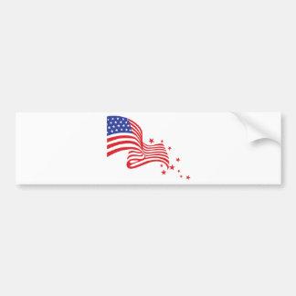 American Flag Stars Car Bumper Sticker