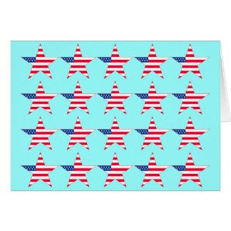 American Flag Stars Greeting Card