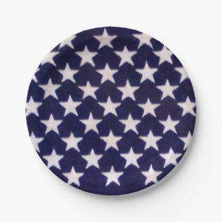American flag stars paper plates