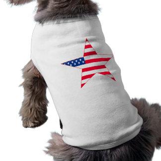 American Flag Stars Pet T-shirt