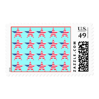 American Flag Stars Postage