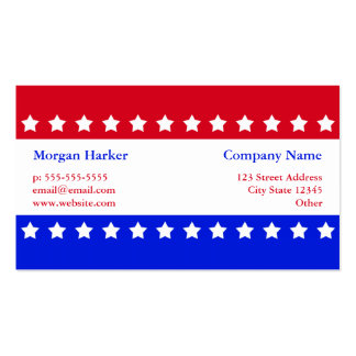 American Flag Stars Red White Blue Business Business Card Template