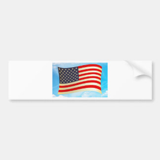 American Flag Stars Stripes Honor Freedom Troops Bumper Stickers