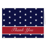 American Flag Stars Thank You Note Card