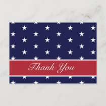 American Flag Stars Thank You Note Cards