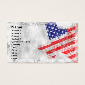 American Flag State of Texas Business Card