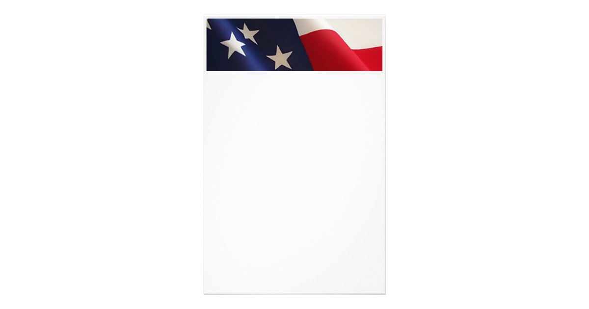 american flag stationary stationery