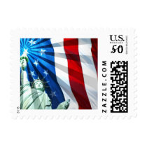 American Flag & Statue of Liberty Postage Stamps