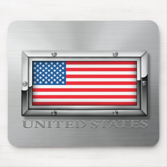 American Flag (Steel) Mouse Pad