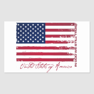 American Flag Rectangle Stickers