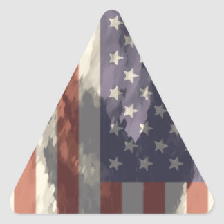 American Flag Triangle Stickers