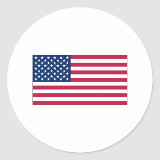 American Flag	sticker sheets Classic Round Sticker