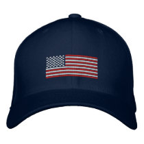 American Flag Stitch Design Baseball Cap