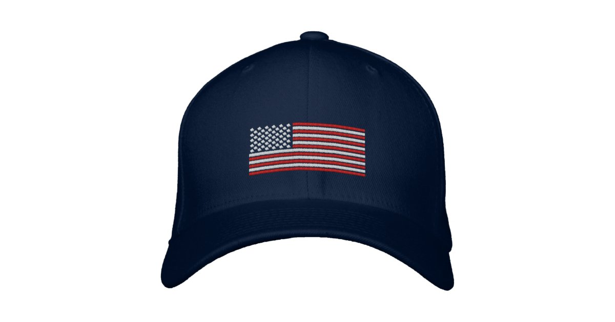 camouflage baseball hat with american flag stitch design cap black