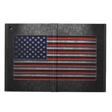 American Flag Stone Texture Case For iPad Air