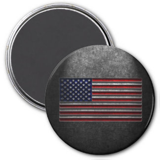 American Flag Stone Texture Magnet