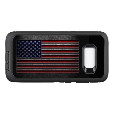 American Flag Stone Texture OtterBox Defender Samsung Galaxy S8  Case