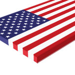 American Flag Stretched Canvas Print