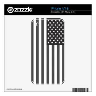 American Flag Subdued iPhone 4S Decal