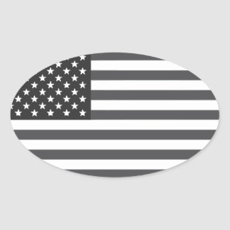 American Flag Subdued Stickers