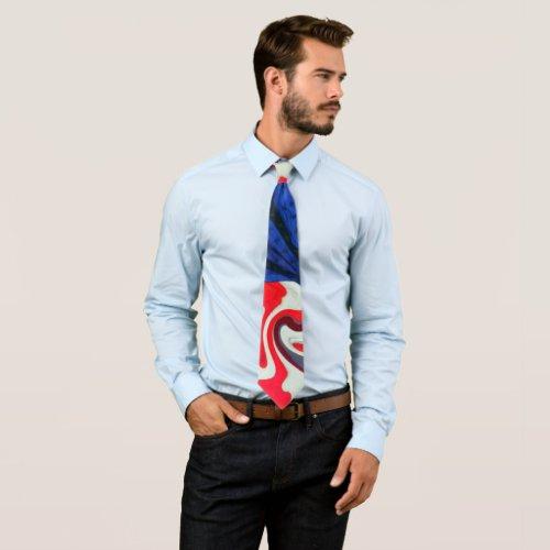 American Flag Swirl Tie tie