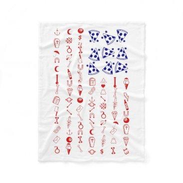 American flag tattoo funny pizza fleece blanket