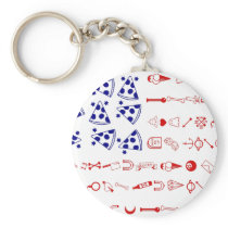American flag tattoo funny pizza keychain