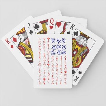 American flag tattoo funny pizza playing cards
