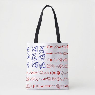 American flag tattoo funny pizza tote bag
